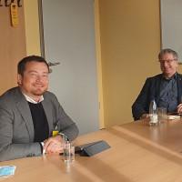 MdB Uli Grötsch mit ver.di Geschäftsführer Bezirk Oberpfalz Alexander Gröbner